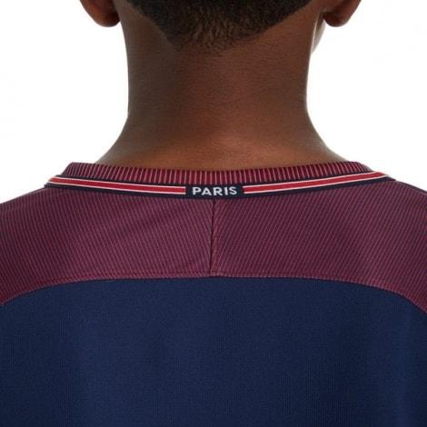 Детская домашняя футболка форма ПСЖ 17-18 сзади вблизи