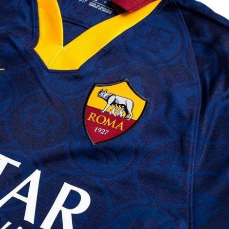 Комплект детской третьей формы Ромы 2019-2020 футболка герб клуба