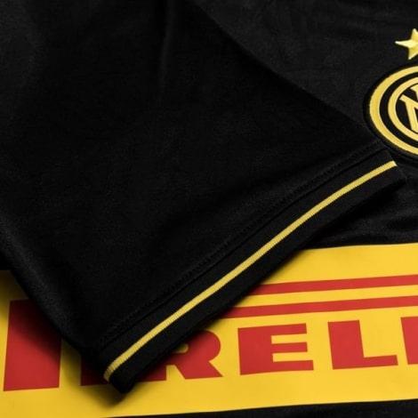 Детская третья футбольная форма Интера 2019-2020 футболка рукав