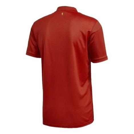 Детская домашняя футбольная форма Испании на ЕВРО 2020 футболка сзади