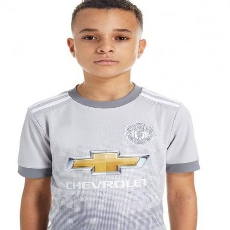 Детская третья футбольная форма Манчестер Юнайтед 2017-2018 футболка спереди