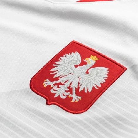 Домашняя футболка сборной Польши на чемпионат мира 2018 логотип