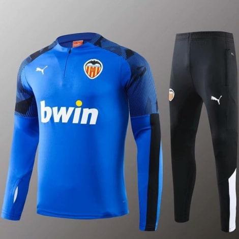 Сине черный тренировочный костюм Валенсия 2020-2021