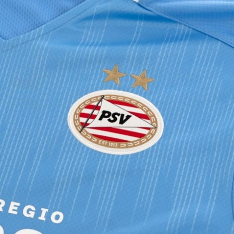 Гостевая игровая футболка ПСВ 2020-2021 герб клуба
