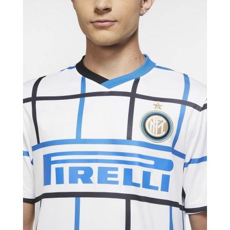 Комплект взрослой гостевой формы Интер 2020-2021 футболка титульный спонсор