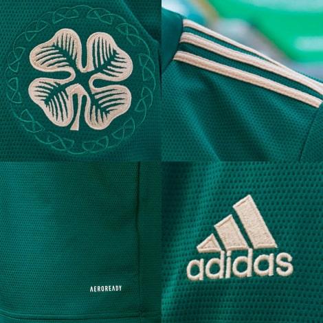 Комплект детской гостевой формы Селтик 2021-2022 футболка логотипы