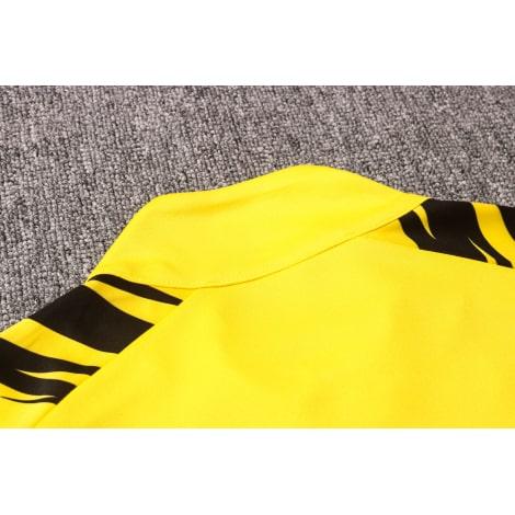 Желто-черный костюм Боруссии Дортмунд 2021-2022 воротник сзади