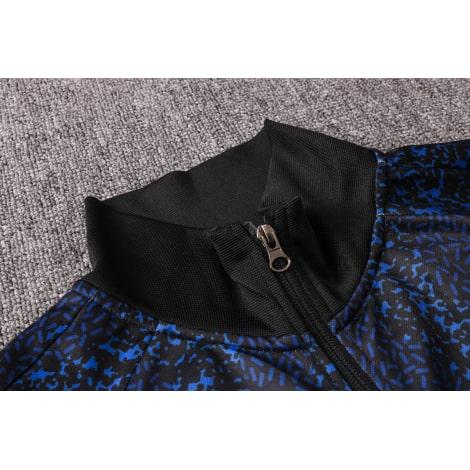 Темно-синий тренировочный костюм Интера 2021-2022 воротник