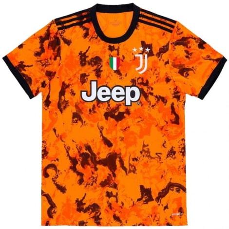 Детская третья футбольная форма Ювентуса 2020-2021 футболка с флагом Италии