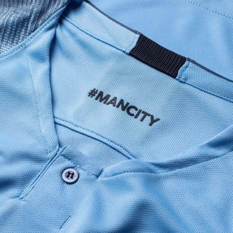 Женская домашняя футболка Манчесетр Сити 2018-2019 воротник