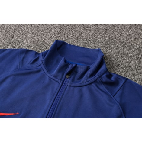 Синий спортивный костюм Барселоны 2021-2022 воротник