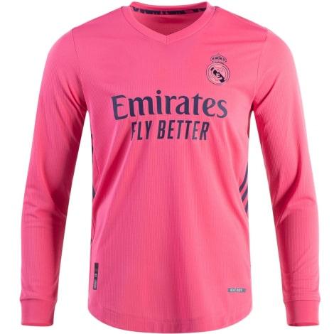 Гостевая форма Реал Мадрид 2020-2021 c длинными рукавами футболка