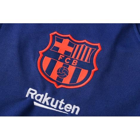 Синий спортивный костюм Барселоны 2021-2022 герб клуба
