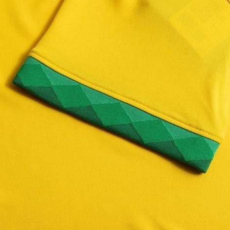 Детская домашняя форма Бразилии 2020-2021 футболка рукав