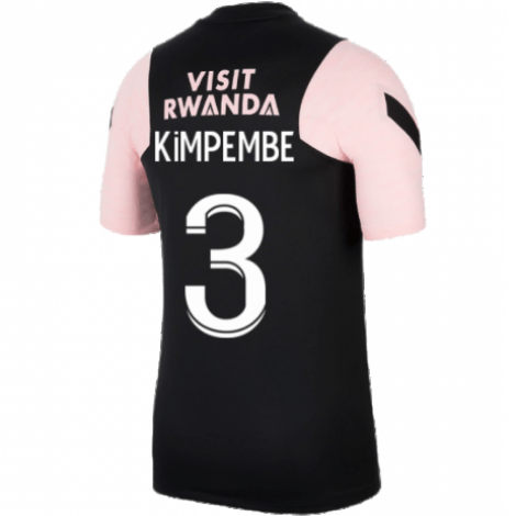 Черно-розовая тренировочная футболка KIMPEMBE ПСЖ 2021-2022