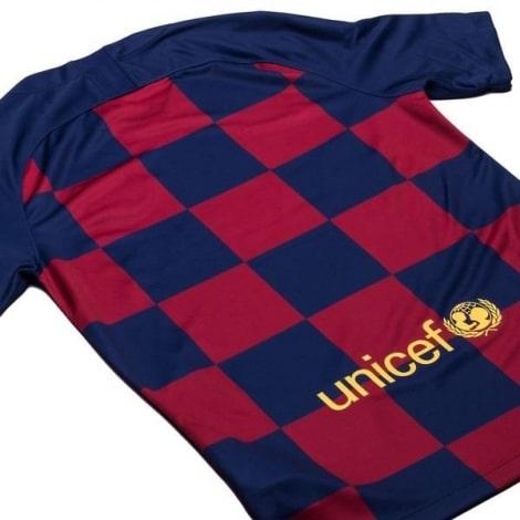 Комплект детской домашней формы Барселоны 2019-2020 сзади