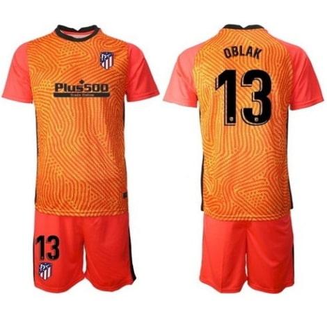Вратарская оранжевая футбольная форма Ян Облак 2020-2021