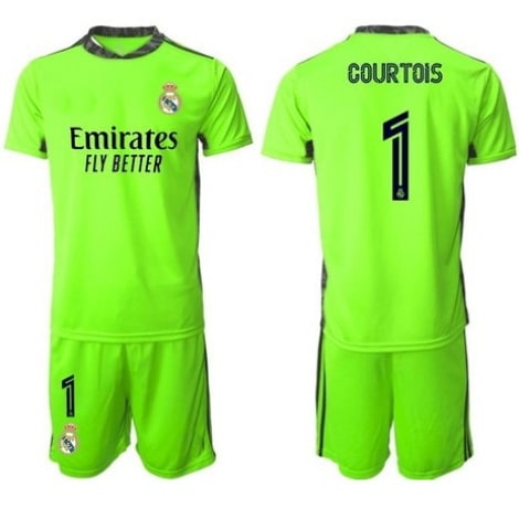Вратарская зеленая футбольная форма Тибо Куртуа 2020-2021