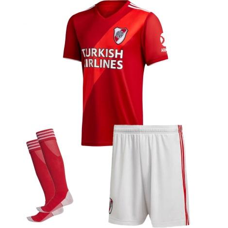 Детская гостевая футбольная форма Ривер Плейт 2020-2021 футболка шорты и гетры
