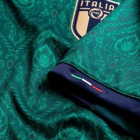 Третий комплект детской формы Италии 2019-2020 футболка рукав