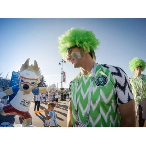 Домашняя футболка сборной Нигерии на Домашняя футболка сборной Нигерии на чемпионат мира 2018 сзади с нанесениемчемпионат мира 2018