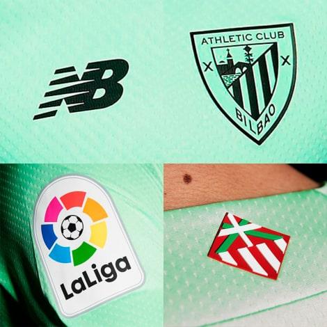 Взрослый комплект гостевой формы Атлетик Бильбао 2021-2022 логотипы