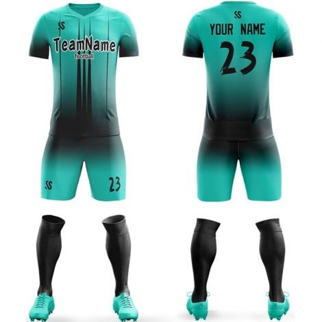 Футбольная форма бирюзового цвета на заказ