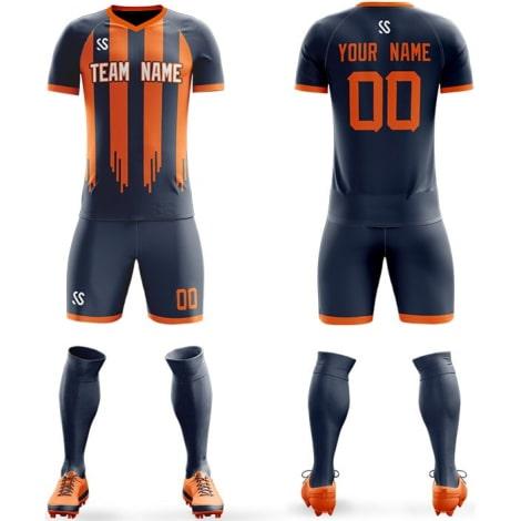 Футбольная форма сине оранжевого цвета Хэллоуин на заказ