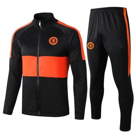 Черно оранжевый тренировочный костюм Челси 2020-2021