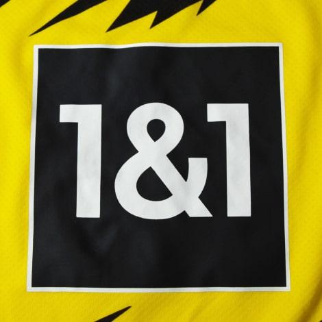Комплект взрослой домашней формы Боруссии Дортмунд 2020-2021 футболка шорты и гетры титульный спонсор