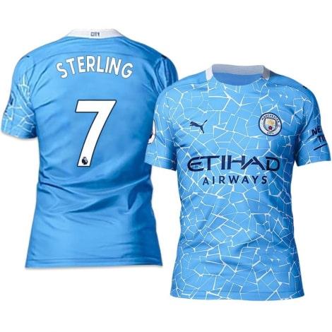 Домашняя футболка Манчестер Сити 20-21 Рахим Стерлинг