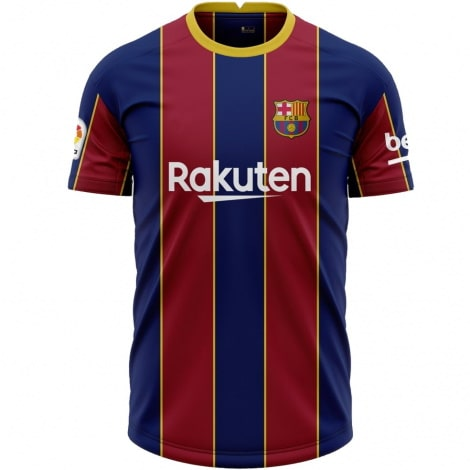 Комплект детской домашней формы Барселоны 2020-2021 футболка