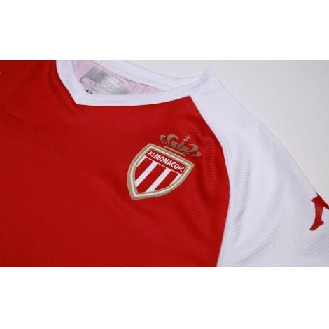 Домашняя игровая футболка Монако 2020-2021 герб клуба