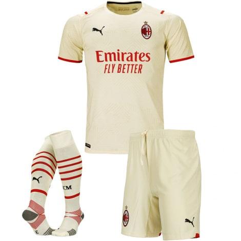 Детская гостевая футбольная форма Милан 2021-2022