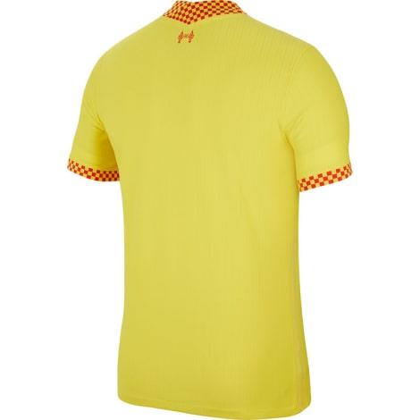 Третья аутентичная футболка Ливерпуля 2021-2022 сзади