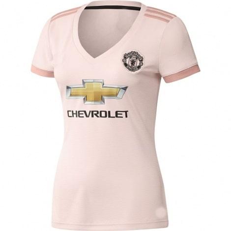 Женская гостевая футболка Манчестер Юнайтед 2018-2019
