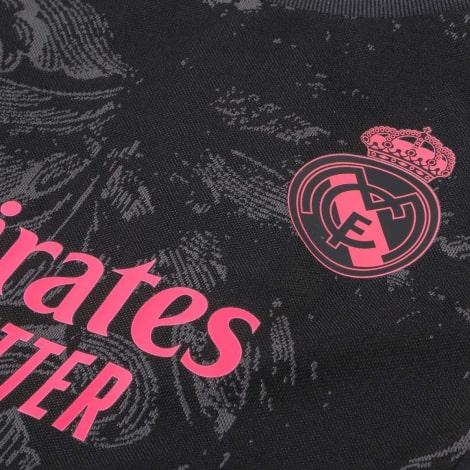 Третья форма Реал Мадрид 2020-2021 c длинными рукавами футболка титульный спонсор