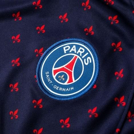 Синяя тренировочная футболка ПСЖ 2018-2019 герб клуба