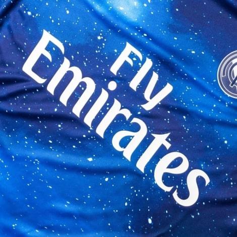 Космическая футболка Реал Мадрид 2018-2019 титульный спонсор