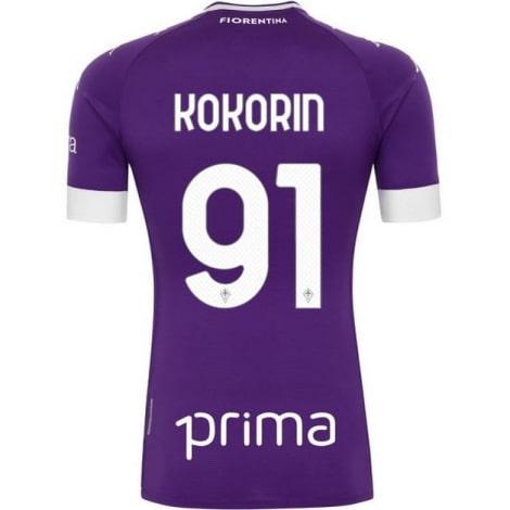 Детская домашняя футбольная форма Кокорин 2020-2021 футболка сзади