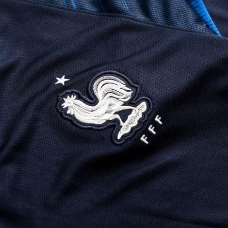Детская домашняя форма Франции ЧМ 2018 длинные рукава герб сборной