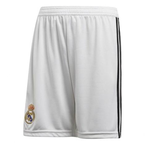 Детская домашняя форма Реал Мадрид 18-19 c длинными рукавами шорты