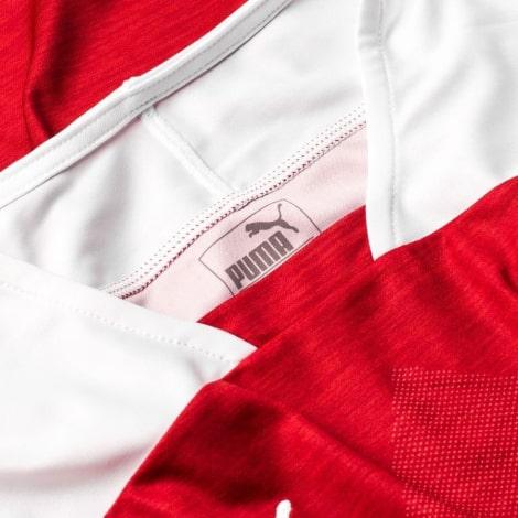 Взрослая домашняя форма Арсенал 18-19 c длинными рукавами воротник