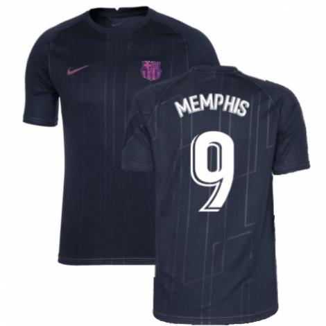 Черная тренировочная футболка Барселоны Мемфис Депай 2021-2022