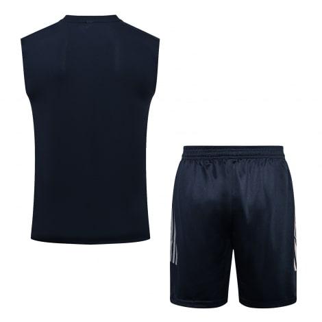Темно-синяя тренировочная форма Ювентуса 2021-2022 сзади