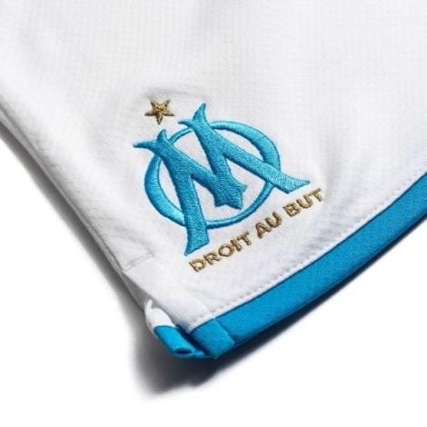 Комплект детской домашней формы Марселя 2019-2020 шорты герб клуба