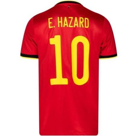 Домашняя футболка Бельгии на ЕВРО 2020-21 Эден Азар номер 10