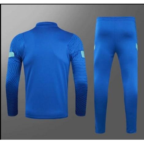 Голубой тренировочный костюм Челси 2021-2022 сзади