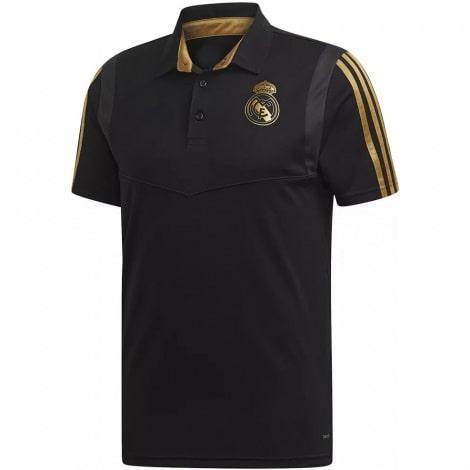 Футболка поло Реал Мадрид черно-золотая 2019-2020