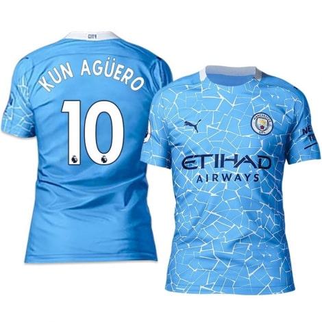 Домашняя футболка Манчестер Сити 20-21 Кун Агуэро